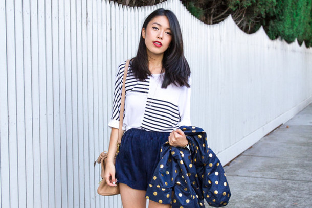 k is for kani top shorts shoes jewels bag