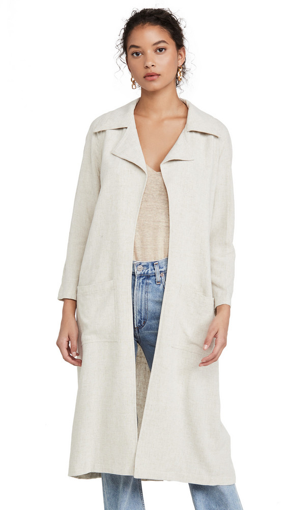 Rachel Pally Linen Cary Trench in natural