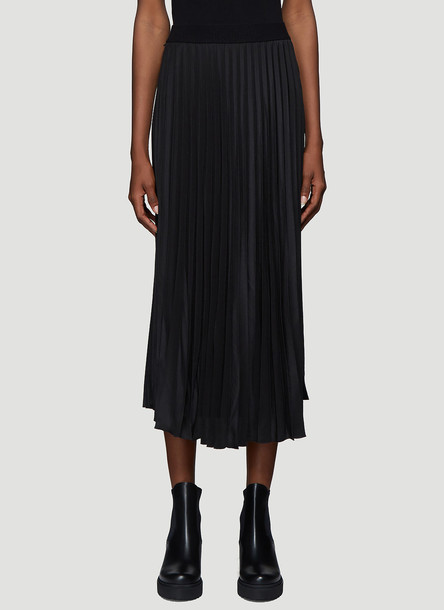 Moncler Pleated Midi Skirt in Black size IT - 38