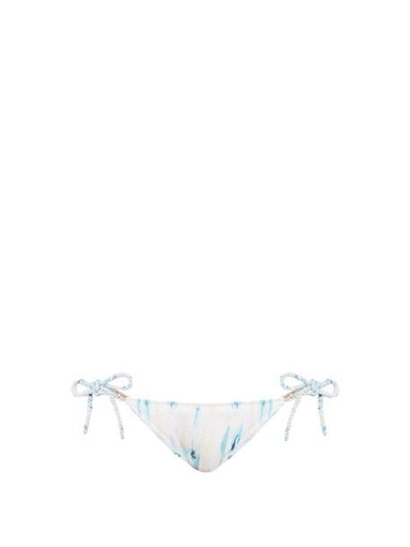 Heidi Klein - Ravello Tie Side Bikini Briefs - Womens - Blue Multi