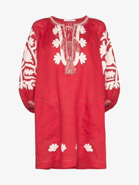 Vita Kin Shalimar shift dress in red