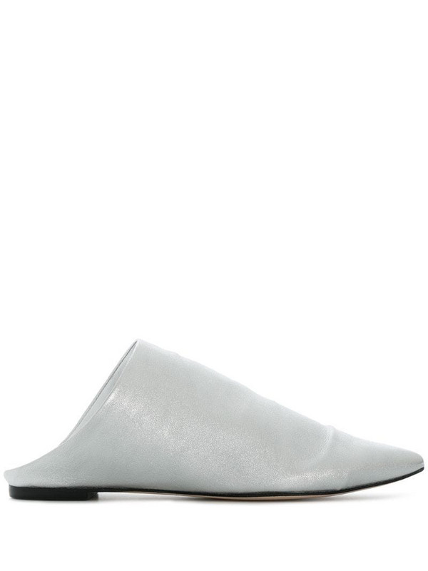 Sigerson Morrison metallic pointed mules