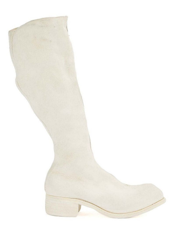 Guidi knee-high leather boots in white