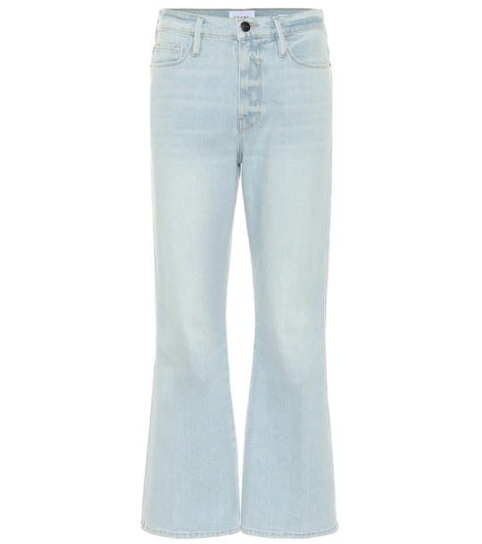 Frame Le Sylvie high-rise bootcut jeans in blue