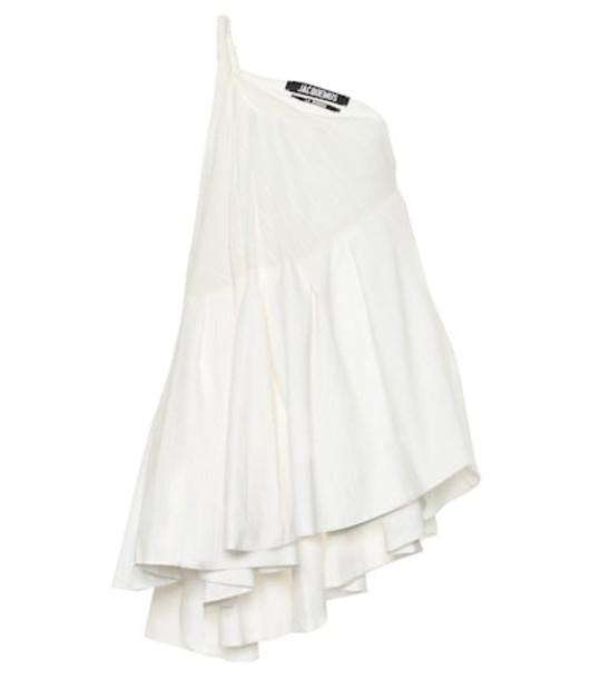 Jacquemus La Robe Affi jacquard minidress in white