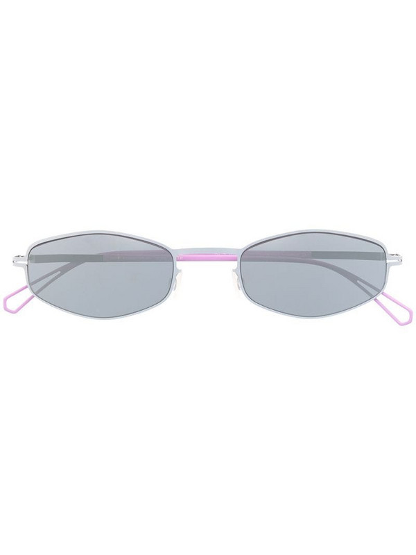 Mykita tinted geometric-frame sunglasses in silver