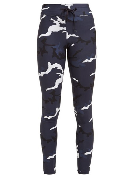 The Upside - Marine Camouflage Print Leggings - Womens - Blue Print