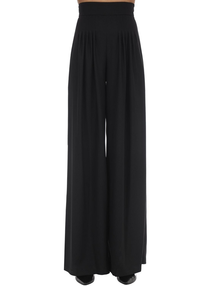 HEBE STUDIO Girlfriend Wide Leg Cady Pants in black