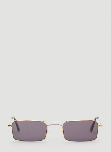 Andy Wolf Milo Sunglasses in Gold size One Size