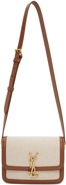 Saint Laurent Beige & Brown Small Solferino Satchel Bag