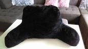 jacket,fluffy,black,pillow