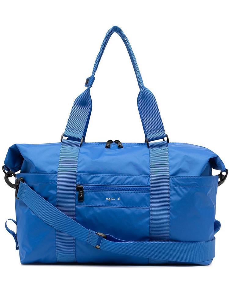 agnès b. agnès b. logo-print holdall bag - Blue