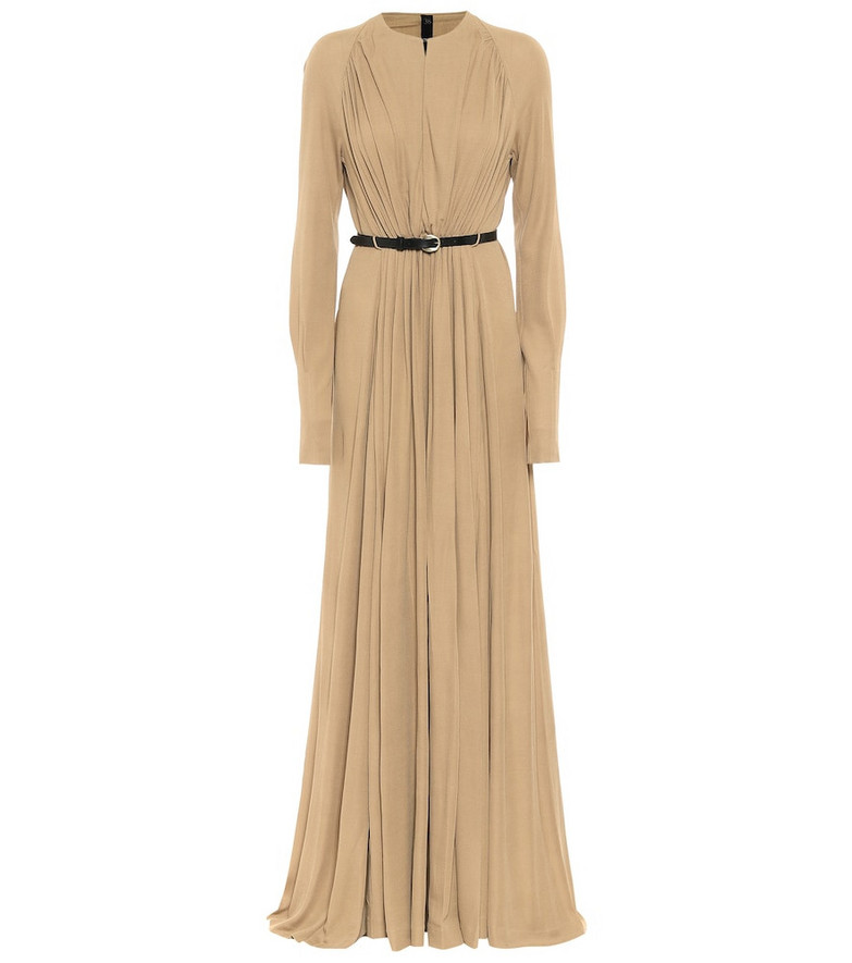 Petar Petrov Arcilla belted maxi dress in beige