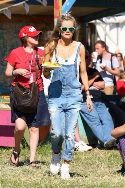 jeans dungarees denim overalls cressida bonas 90s style