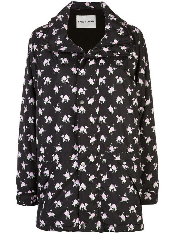 Sandy Liang Oliver floral printed jacket in black