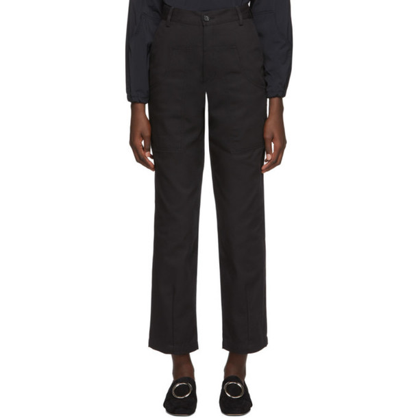 Markoo SSENSE Exclusive Black The Dropped Pocket Trousers