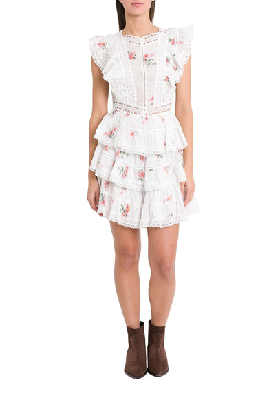 Zimmermann Floral Print Dress With Flounces