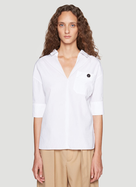 Marni Button Detail Shirt in White size IT - 44