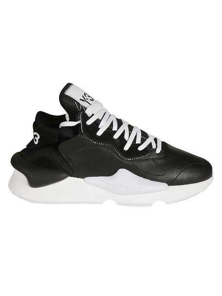 Y-3 Adidas Kaiwa Sneakers in black / white