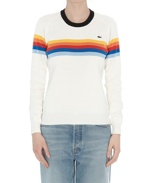 Lacoste LVE Lacoste L!ve Stripe Sweater in white