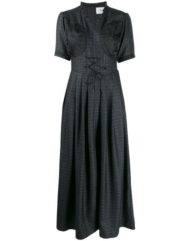 Quetsche short-sleeve flared dress in black
