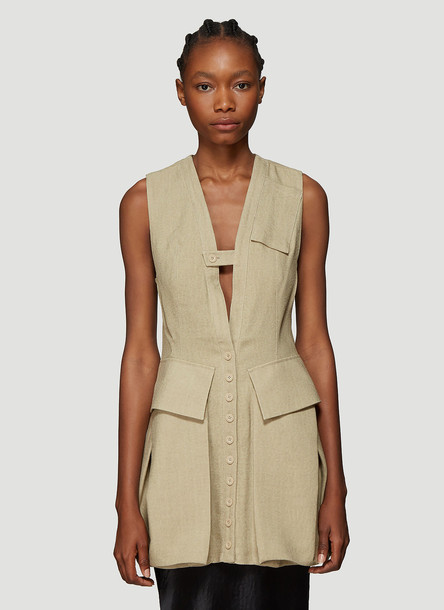 Jacquemus Le Haut Kimbe Dress in Beige size FR - 36