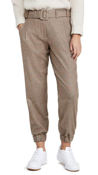 Generation Love Doreen Mini Houndstooth Pants in brown / multi