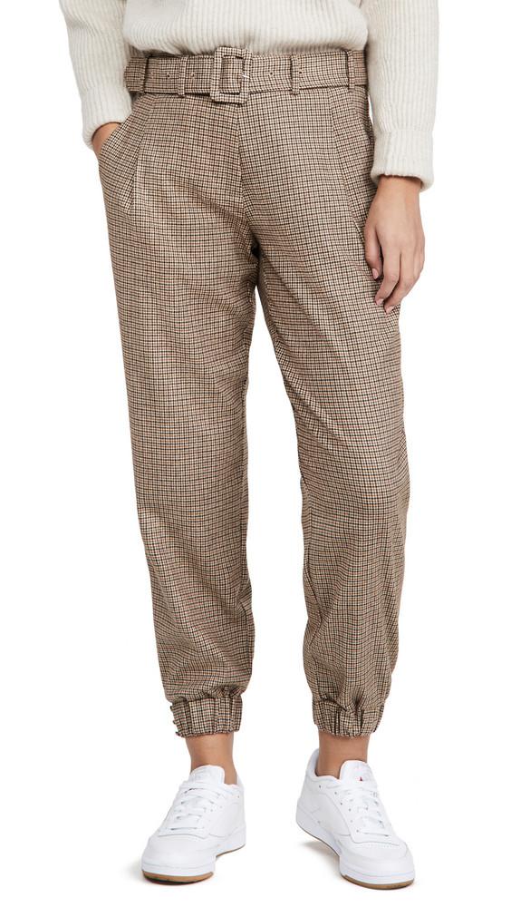 Generation Love Doreen Mini Houndstooth Pants in brown / multi