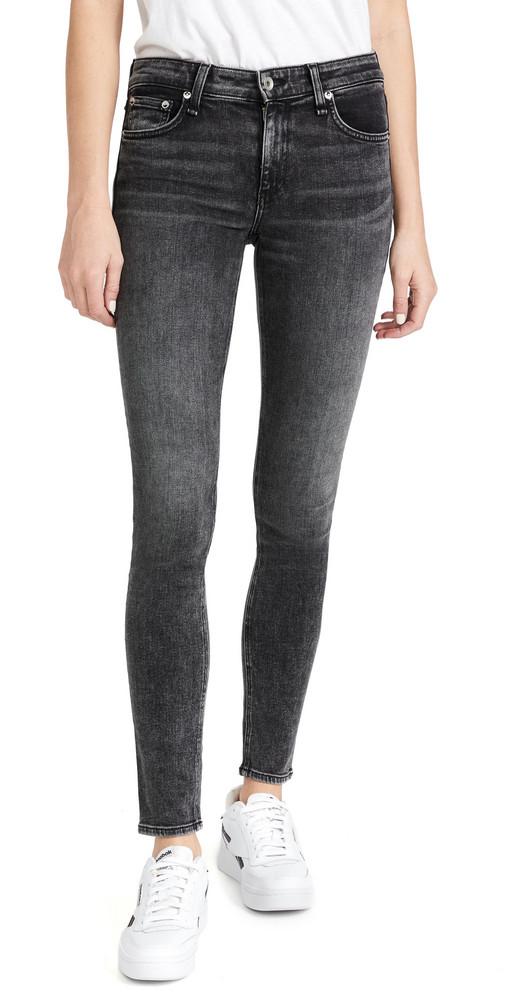 Rag & Bone Cate Mid-Rise Skinny Jeans in black