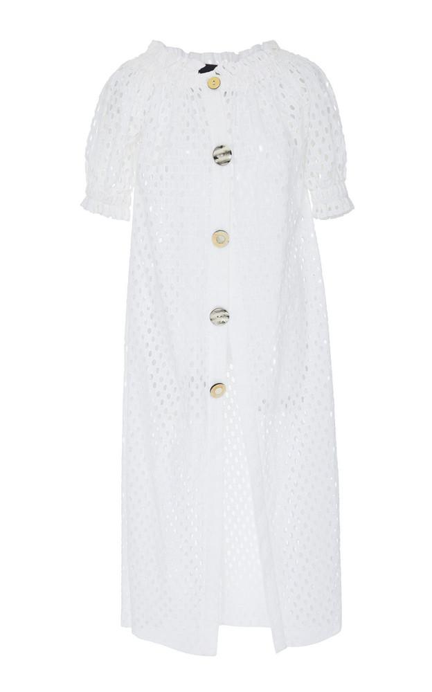 PAPER LONDON Esther Sheath Dress in white