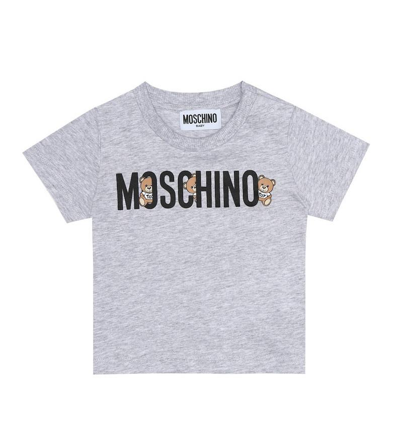 Moschino Kids Baby cotton T-shirt in grey