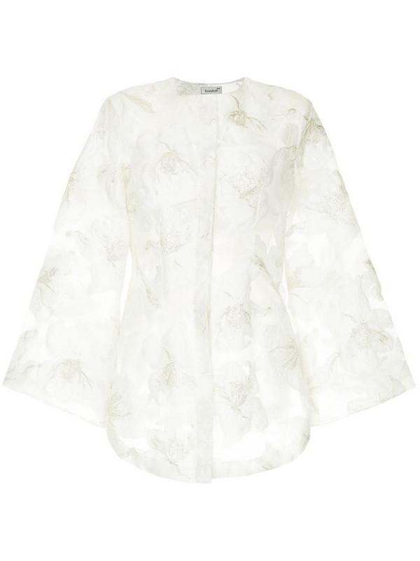 Bambah Dahlia button up shirt in white