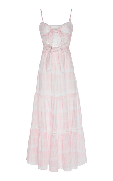 Jonathan Simkhai Dual-Tie Maxi Dress in print