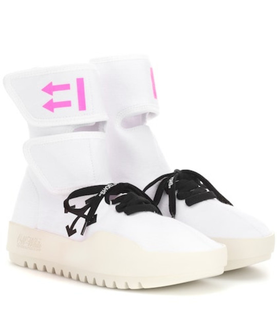 Off-White CST-001 high-top sneakers in white