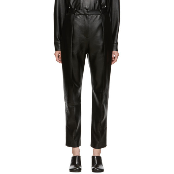 Materiel Tbilisi SSENSE Exclusive Black Vegan Leather Trousers