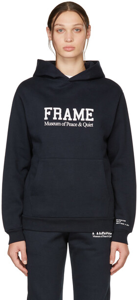 Museum of Peace & Quiet Navy FRAME Edition Logo Hoodie