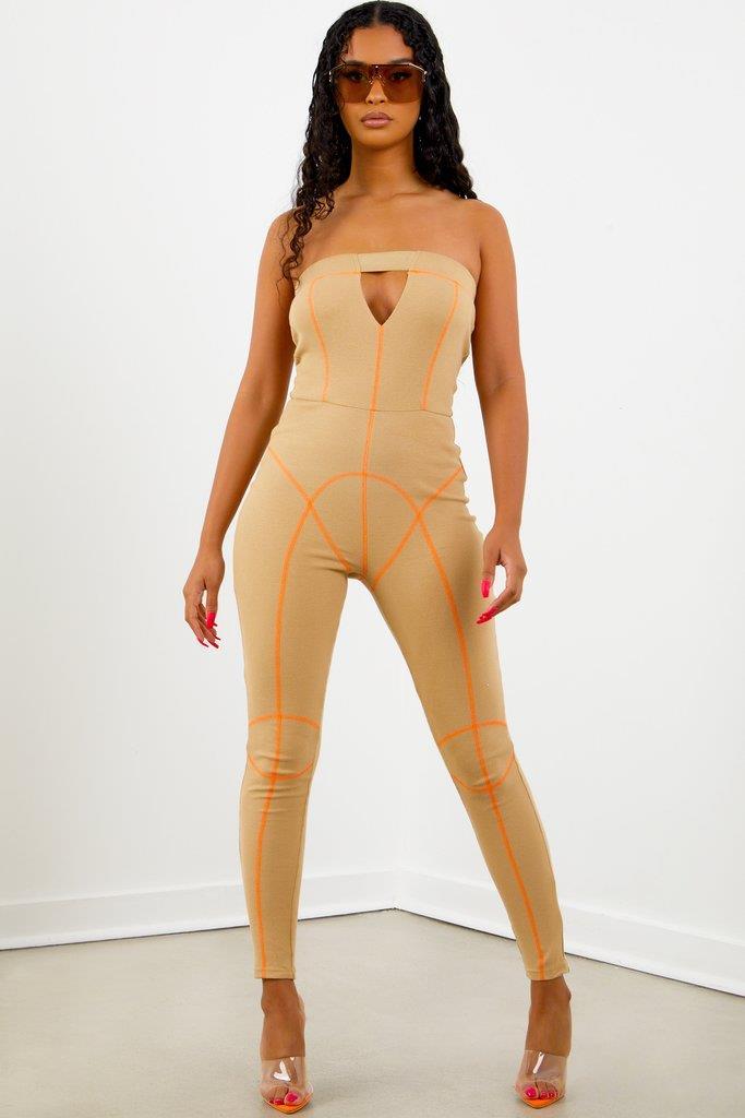Sorella Nude Strapless Jumpsuit