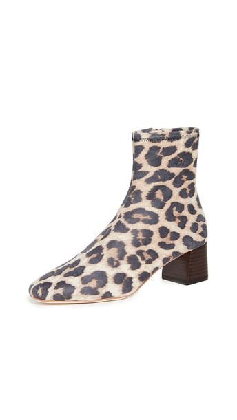 Loeffler Randall Tahlia Low Slim Ankle Booties in leopard