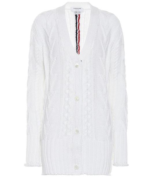 Thom Browne Wool cardigan in white
