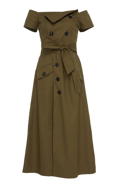 Marissa Webb Jensen Canvas Dress Size: S in green