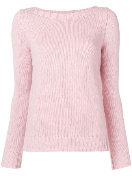 Aragona cashmere knit sweater in pink