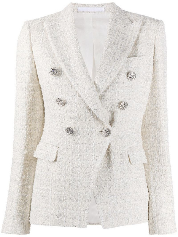 Tagliatore tweed blazer in neutrals