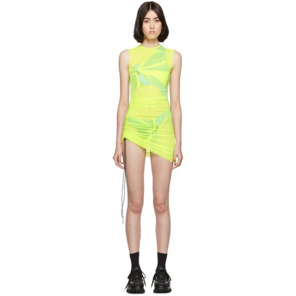 Louisa Ballou SSENSE Exclusive Yellow SL Mesh Mini Dress