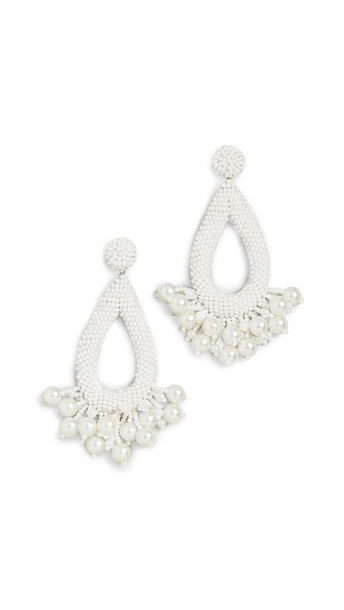 Deepa Gurnani Deepa By Deepa Gurnani Kacey Earrings in white
