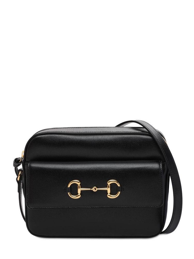 GUCCI 1955 Horsebit Azalea Shoulder Bag in black