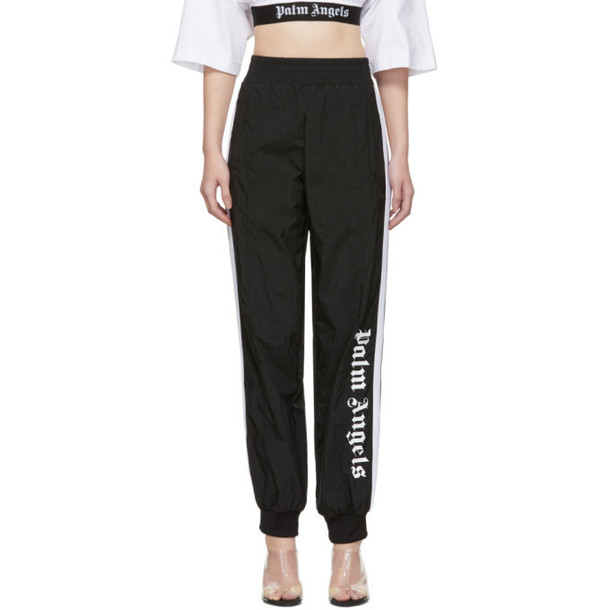 Palm Angels Black Over Logo Track Pants