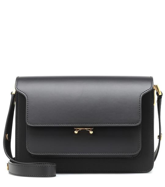 Marni Trunk leather shoulder bag in black