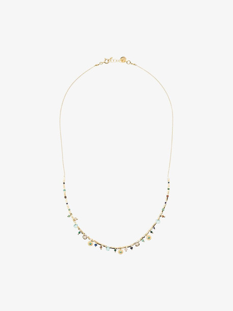 5 Octobre gold-plated silver Asia turquoise stone necklace