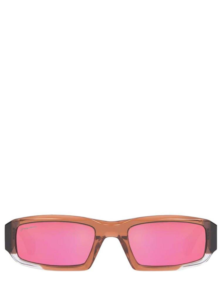 JACQUEMUS Les Lunettes Altù Acetate Sunglasses in brown / multi