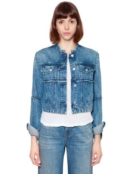 J BRAND Slim Crop Denim Jacket in blue